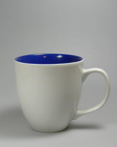 Porzellanbecher HARRY innen Blau