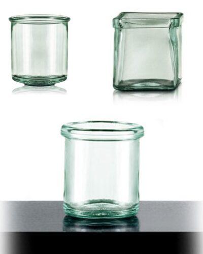 Grünglas, Kerzenlicht, Windlicht, Teelicht