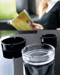 Glasascher schwarz transparent Aufmacher