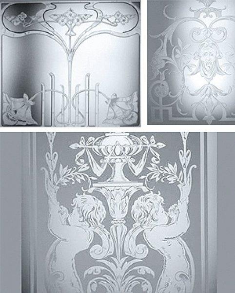 feinste Motivgravur auf Glas per Klischee