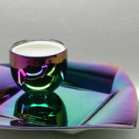 irisierende Effekte per Titanbedampfung