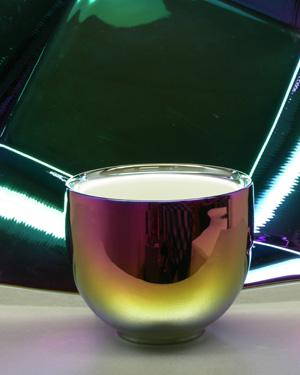 irisierende Effekte per galvanischer Titanbedampfung