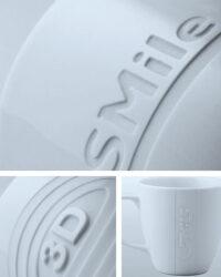 Werbetassen Logogravur Sandstrahlgravur Porzellan Glas