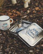 Projektarbeit Bedruckung Emaillebecher Lunchboxes Maloja