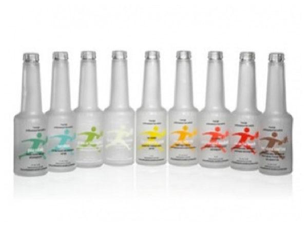 Flaschen satiniert Frozeneffekt mit Logodruck