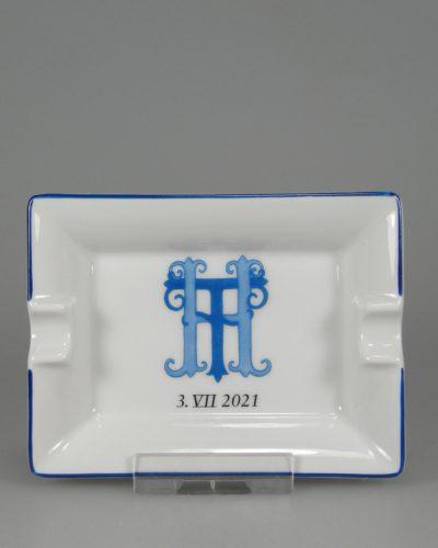Zigaretten Aschenbecher mit Handmallinie Hochzeit K277_11