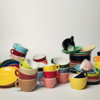 Keramische Farbspritzung Farbglasur Produktionstechnik