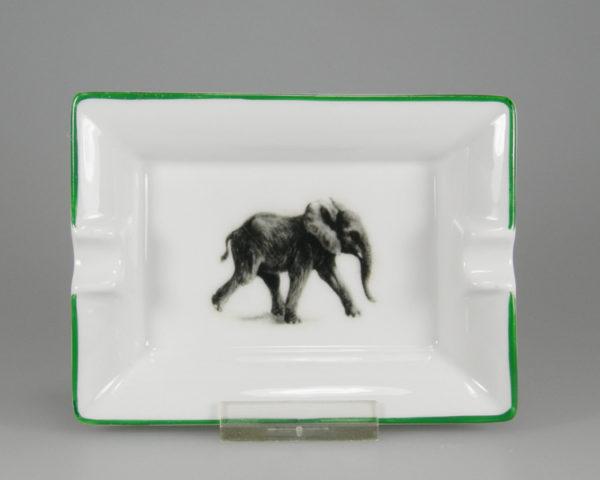 Aschenbecher Elefant mit Handmallinie