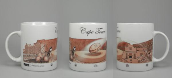 Bildmotiv Umlaufmotiv auf Kaffeepott Keramiktasse