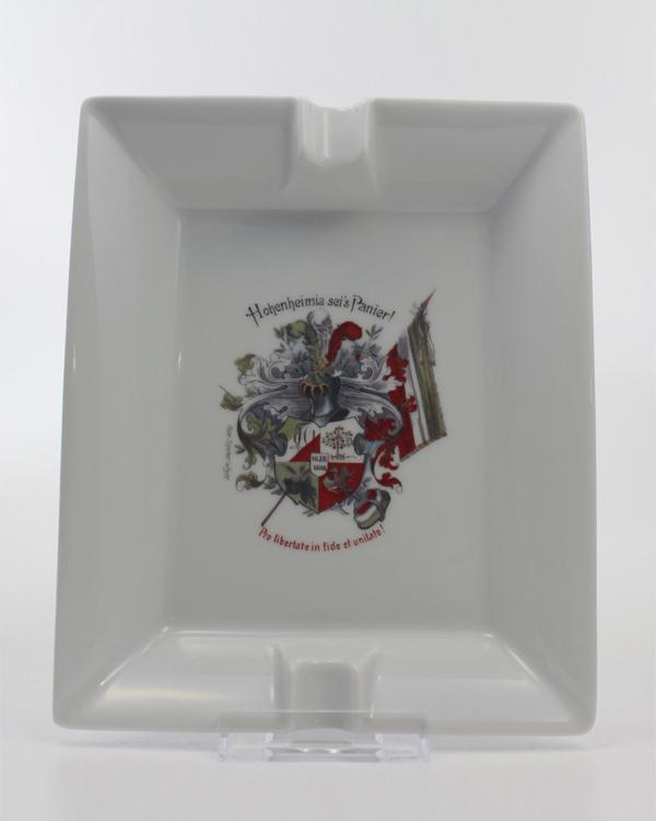 Zigarrenaschenbecher Porzellan mit Wappenmotiv