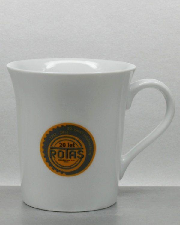 3farb Logo im Direktdruck Tampondruck auf Tasse Keramikbecher