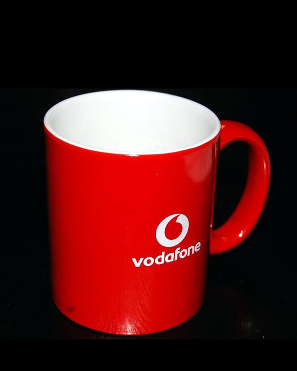 Logo direkt Tampondruck rot Hydrolack gespritzte Tasse