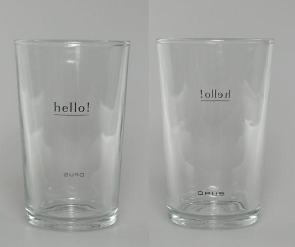 Hello OPUS Projektarbeit Tampondruck auf Trinkglas