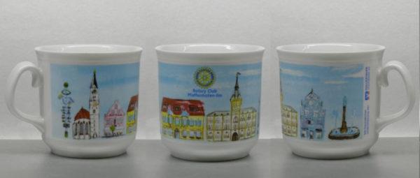 Umlaufbildmotiv auf Tasse für Rotary Club
