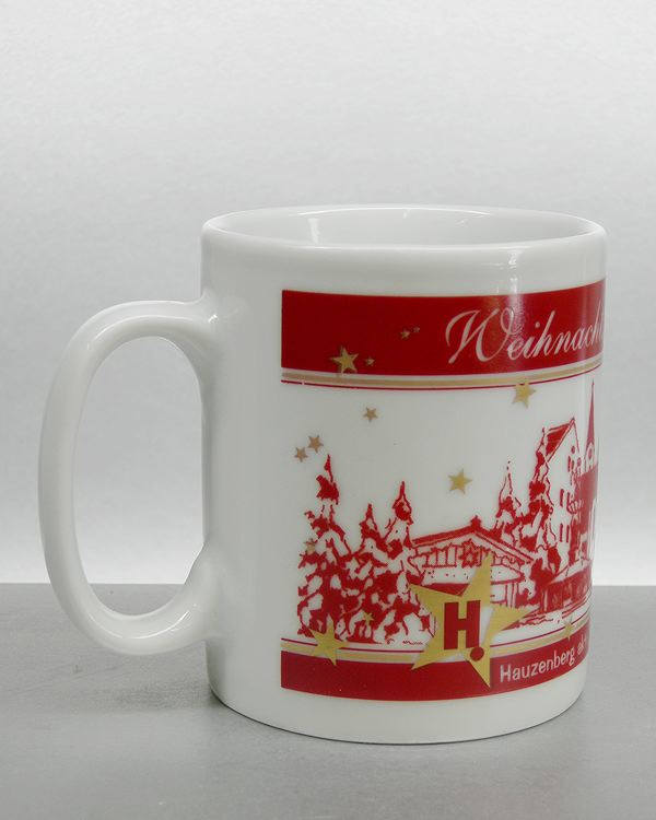 Weihnachtbecher als Umlaufdruck mit Metalicfarbe