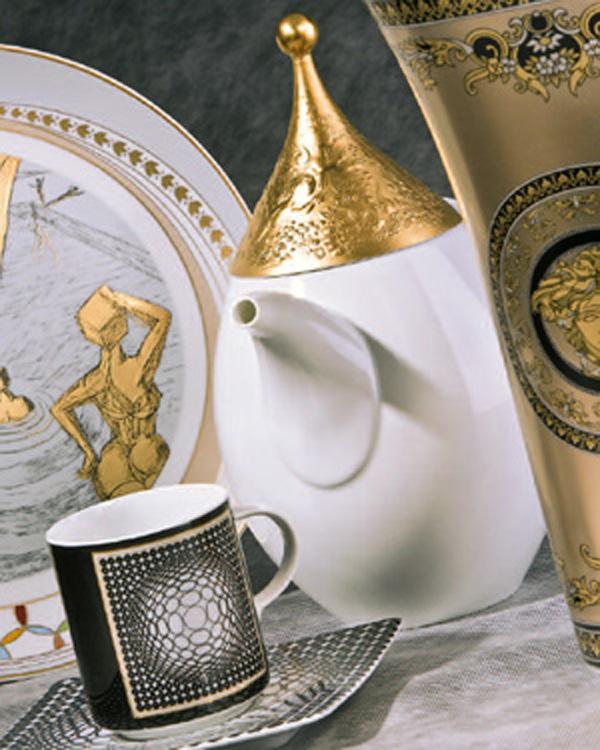 Edelmetall Bedampfung und Druck auf Porzellan