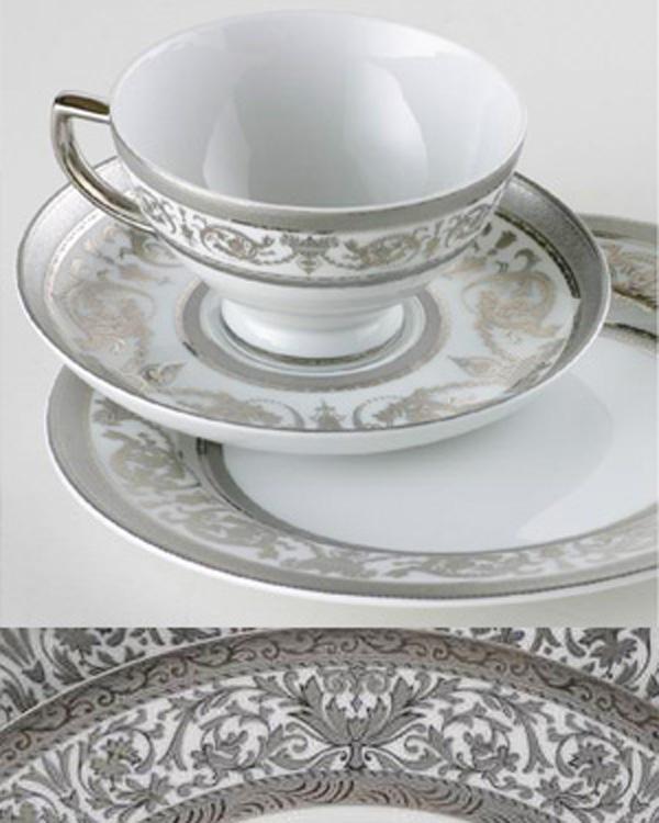 Silber bzw. Platin auf Porzellan
