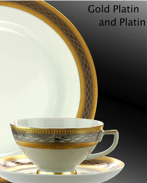 Porzellanservice Gold und Silber Dekor