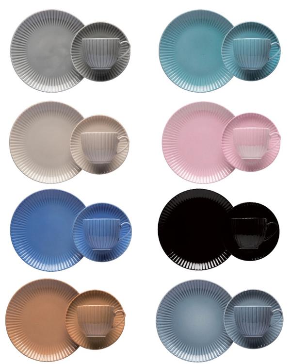 farbglasiertes Porzellan im Landhausstiel