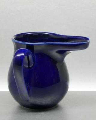 Feuerzangenbecher mit blaue Farbglasur