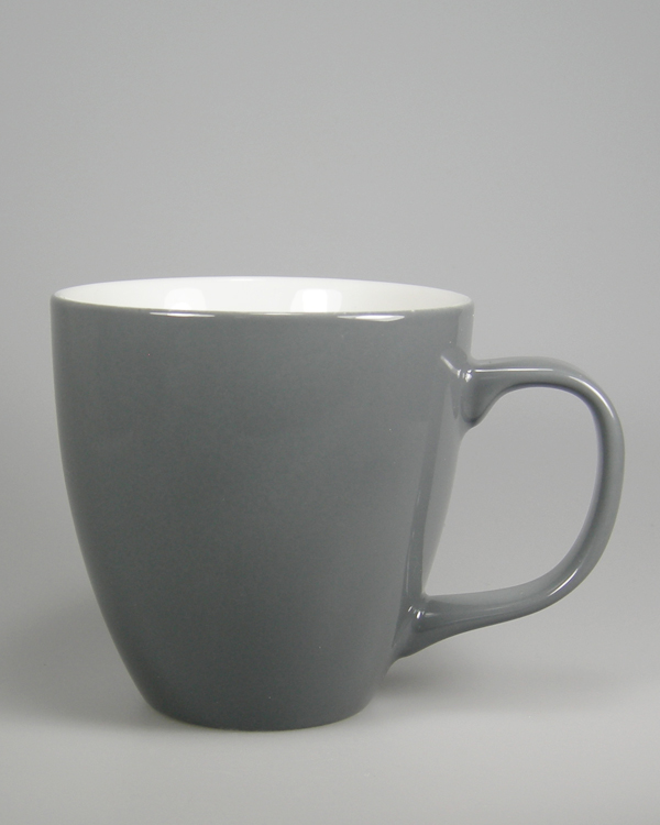 keramische Farbspritzung zu Grau grey Colormug