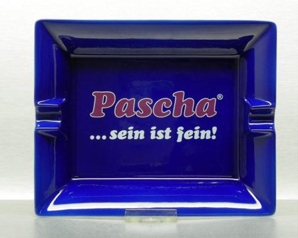 keramisch blau gespritzer Zigarrenascher mit Logodruck