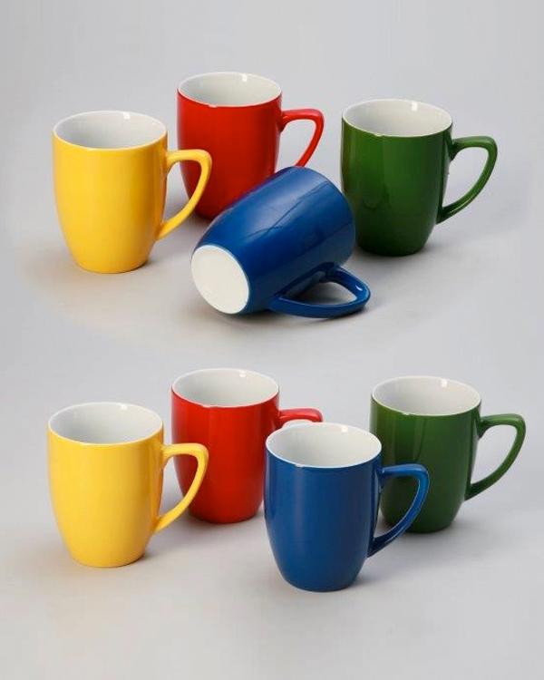 keramische Farbspritzung Porzellanbecher Colormugs