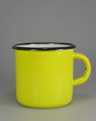 Zitronengelb gespritzer Emaillebecher per Hydrolack glänzend