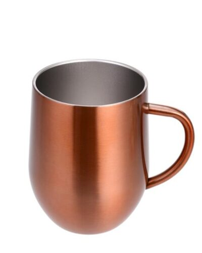 Edelstahlbecher Kupferdesign mit Henkel