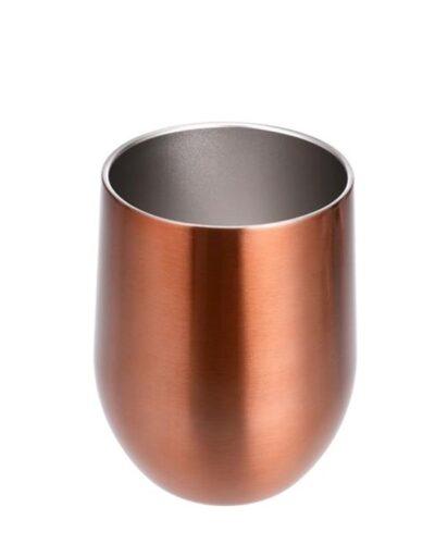 Edelstahlbecher Kupferdesign ohne Henkel