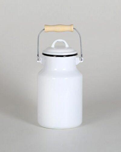 Emaillekanne Milchkanne milk jug enamel 1ltr oder 2ltr