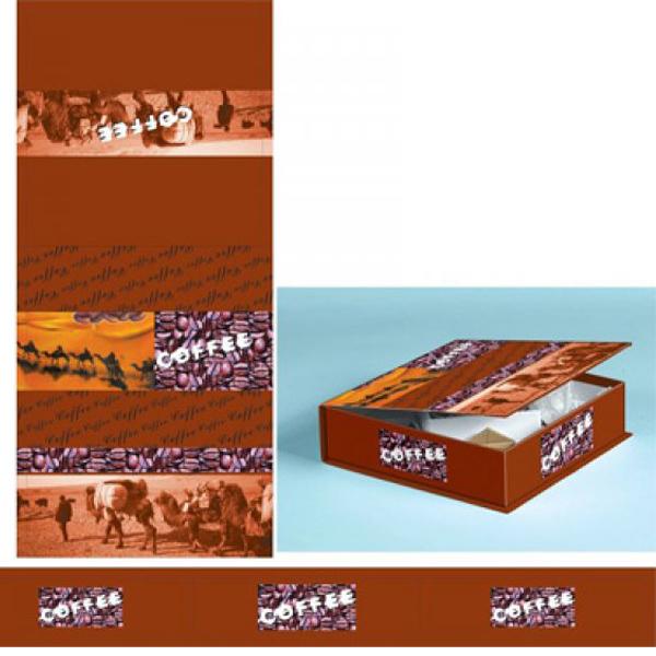 Fernosprojekt Espressotassen in Buchformverpackung MockUp Verpackungsvorgabe