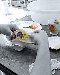 Nass-Schiebebilder auf Tasse drucken Produktionstechnik