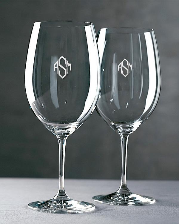 Lasergravur Rotweinglas