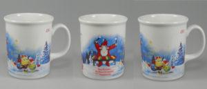 Porzellanbecher EVA Weihnachtsmarkt Ingelheim mit CE Eiche Ausschankmass bei 0,25l