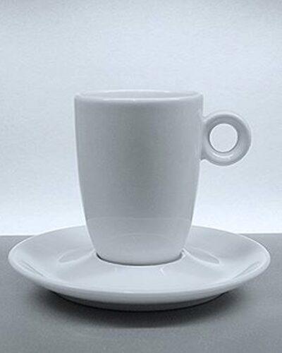 DEGUSTA Kaffeebecher mit rundem Unterteller