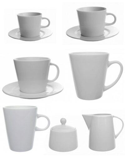 Verschiedene Porzellanteile Porzellanform TRAPO