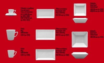 Porzellangeschirr Porzellan rechteckig und quadratischCLASSIC - KLASSISCH