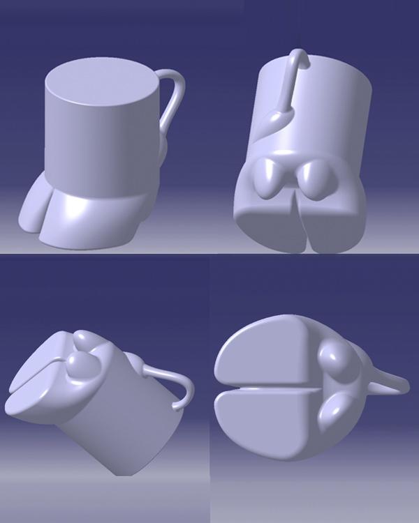 3D Modell Kuhklauenbecher