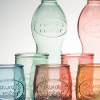 Color-Recycling-Flasche-Glas