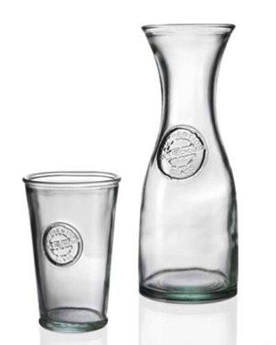 Recyclingglas Decanter & Trinkglas