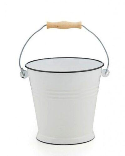 Emaillekübel, Emailleeimer 10 Liter weiss