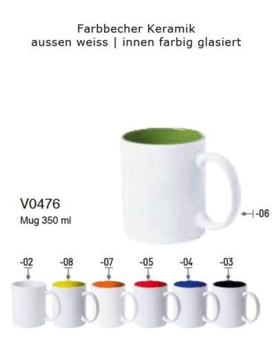 Farbbecher_Keramik_aussen weiss innen farbig