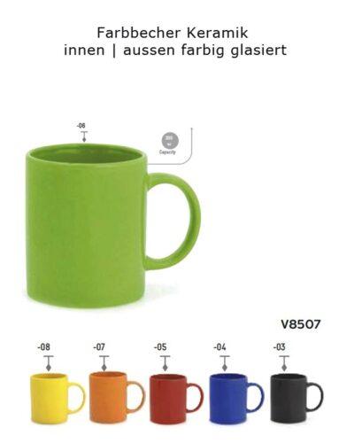 Farbbecher Keramik_aussen innen farbig