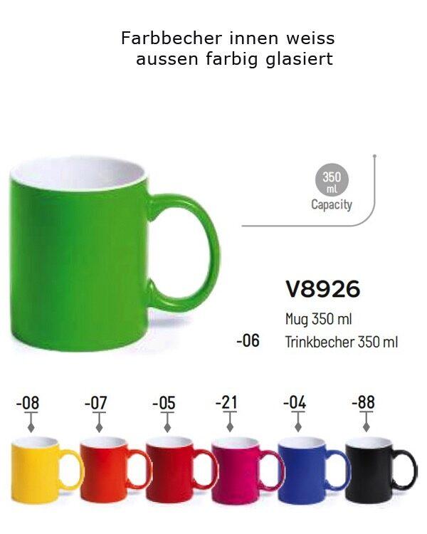 Farbbecher_Keramik_innen weiss aussen farbig