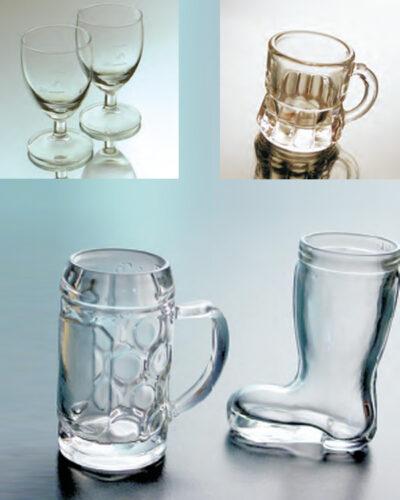Mini-Glaskrug, Minikrug, Stiefelglas, Shotglas