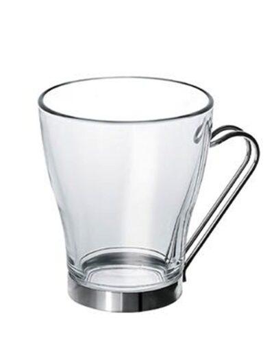 Cappuccinoglas mit Metallhalter OSLO