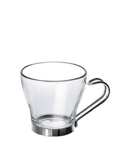 Espressoglas mit Metallhalter OSLO