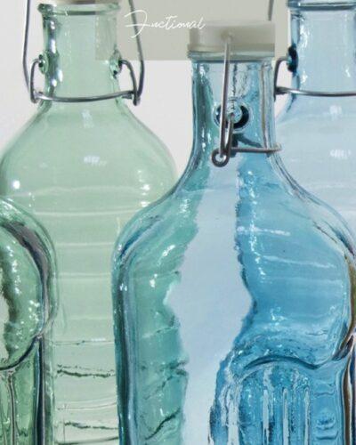 Recyclingflaschen Bügelverschluss Color