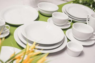 Porzellan gedeckteer Tisch AMERICA für HoReCa